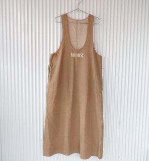 PINK HOUSE シンプルロゴジャンパースカート/カフェオレベージュ