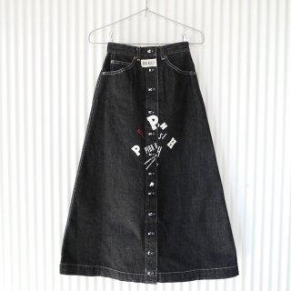 PINK HOUSE POPロゴ×くまちゃんワッペン フロントボタンスカート