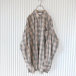 <img class='new_mark_img1' src='https://img.shop-pro.jp/img/new/icons13.gif' style='border:none;display:inline;margin:0px;padding:0px;width:auto;' />Beige check BIG shirt