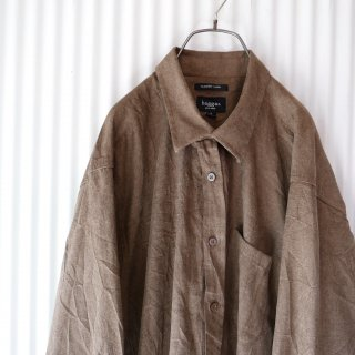 <img class='new_mark_img1' src='https://img.shop-pro.jp/img/new/icons13.gif' style='border:none;display:inline;margin:0px;padding:0px;width:auto;' />haggar Soft suede Big shirt