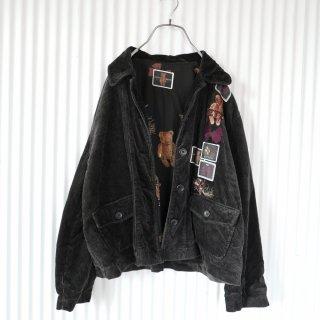 KETTY くまちゃん刺繍×ワッペン コーデュロイジャケット