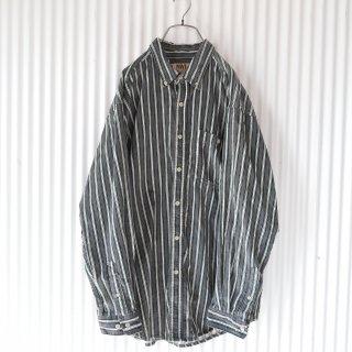 Gray stripe コーデュロイシャツ