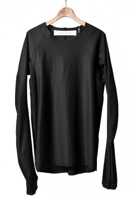individual sentiments  raw edge basic jersey / black
