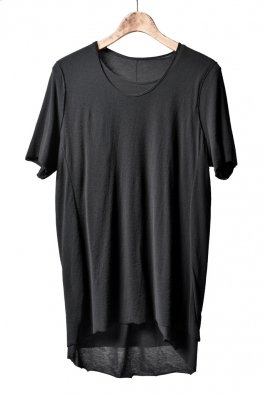 individual sentiments  layerd crepe weave jersey short sleeve / black