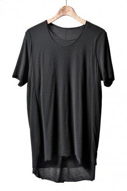 individual sentiments  layerd crepe weave jersey short sleeve / black