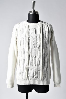 individual sentiments  wool jacquard knit / ecru white