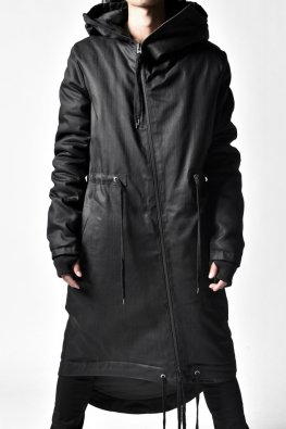 ARMY OF ME  Coated Parka Jacket 02 / Black
