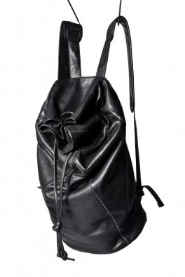 ARMY OF ME scar stitched leather backpack / black