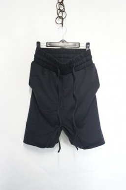 LL72 by Leon Louis Dropcrotch Sweat Easy Shorts / Black