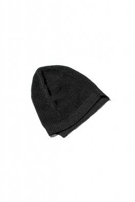 The Viridi-anne 7G-Paper Mix Knit Beanie - BLACK