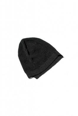 The Viridi-anne 7G-Paper Mix Knit Beanie - BLACK