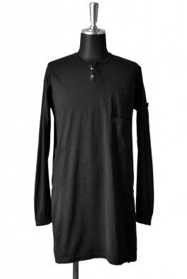 The Viridi-anne HENLEY LONG TOPS / High Density Cotton Jersey