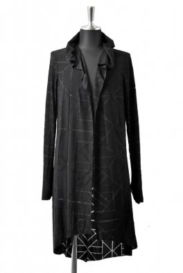 incarnation WideNeck Spriral Arm Long Cardigan