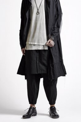 The Viridi-anne HIGH DENSITY WEATHER-CLOTH WRAP-SKIRT TROUSERS