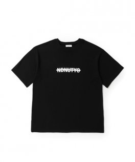 NIL DUE / NIL UN TOKYO  STAFFS SWEAT BIG TEE BLACK