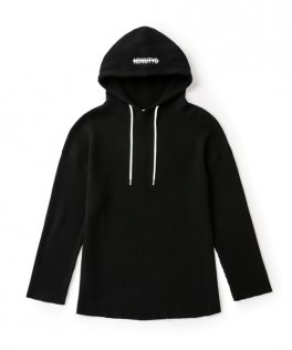 <img class='new_mark_img1' src='//img.shop-pro.jp/img/new/icons8.gif' style='border:none;display:inline;margin:0px;padding:0px;width:auto;' />NIL DUE / NIL UN TOKYO  PULLOVER WAFFLE HOODIE BLACK