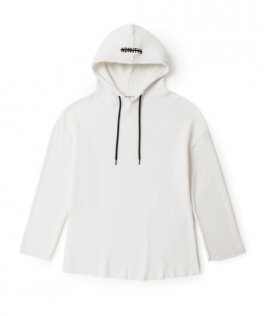 NIL DUE / NIL UN TOKYO  PULLOVER WAFFLE HOODIE WHITE
