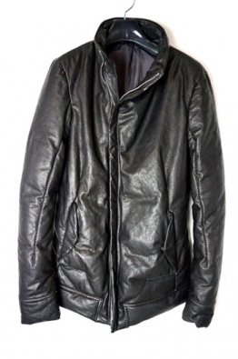 incarnation Sheep Leather Bias Rib Down Blouson W/PKT Lined