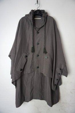 vital Poncho Layered Hoodie Coat