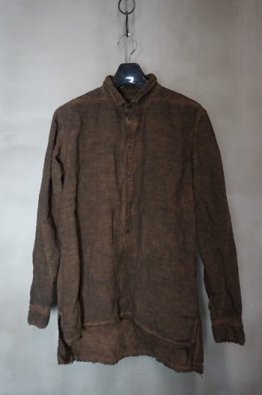 <img class='new_mark_img1' src='https://img.shop-pro.jp/img/new/icons23.gif' style='border:none;display:inline;margin:0px;padding:0px;width:auto;' />A.F ARTEFACT  Linen Pullover Shirt(Persimmon dyed)