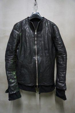 「予約品」incarnation 10th Anniversary Vol,2 No Collar Moto Modify  Calf Leather Blouson