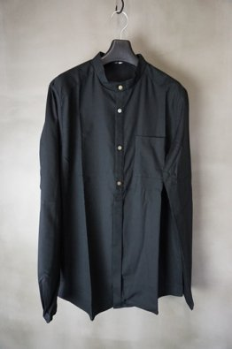 <img class='new_mark_img1' src='https://img.shop-pro.jp/img/new/icons8.gif' style='border:none;display:inline;margin:0px;padding:0px;width:auto;' />individual sentiments Cotton modal Band collar Shirt