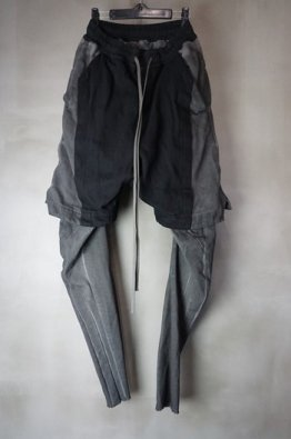 <img class='new_mark_img1' src='https://img.shop-pro.jp/img/new/icons8.gif' style='border:none;display:inline;margin:0px;padding:0px;width:auto;' />A.F ARTEFACT  Layered Long Pants