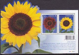 カナダ・ひまわり・小型シート切手・2011