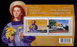 カナダ・赤毛のアン・小型シート切手・2008