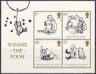 イギリスの切手・クマのプーさん小型シート・2010