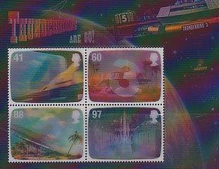 イギリス・サンダーバード小型シート切手・2011