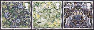 イギリス・ウィリアムモリスのデザイン・切手・2011(6)