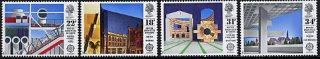 イギリスの切手・ヨーロッパ・1987・著名な建築(4)
