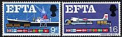 イギリスの切手・EFTA・1967(2)