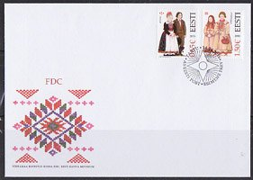 エストニア・民族衣装・2016・FDC