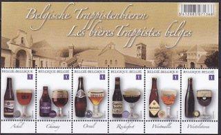 ベルギー・ビール・小型シート切手・2012