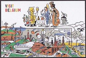 ベルギー・ヨーロッパ・観光・小型シート切手・2012