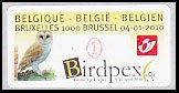 ベルギー・自動化切手・バードペックス・2010(セルフ糊)