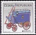 チェコの切手・ヨーロッパ・郵便車・2013