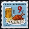 チェコの切手・ヨーロッパ・食・2005