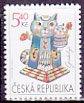 チェコの切手・おめでとう・猫・2001