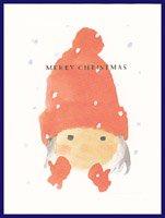 クリスマスカード・ちひろ・女の子