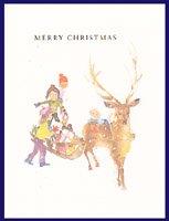 クリスマスカード・ちひろ・そり