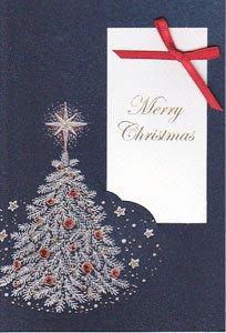 イタリア製・クリスマスカード・ネイビー