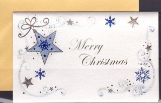 イタリア製・クリスマスカード・星