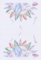 Kaori Ishizaka・クリスマスポストカード・天使と花