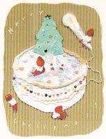 Kaori Ishizaka・クリスマスポストカード・ケーキ