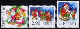 エストニア・クリスマス・切手・1997〜1999