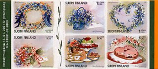 フィンランド・フレンドシップ・ケーキ・切手帳・2001・セルフ糊