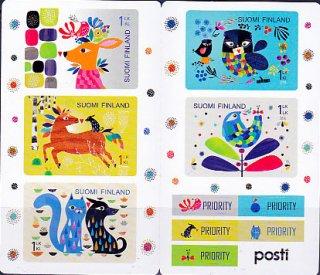 フィンランドの切手・グリーティング・2012(6)セルフ糊